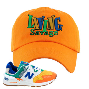 997S Multicolor Sneaker Orange Dad Hat | Hat to match New Balance 997S Multicolor Shoes | Living Savage