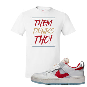 Dunk Low Disrupt Gym Red T Shirt | Them Dunks Tho, White