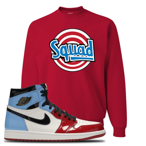 Air Jordan 1 Fearless Squad Red Made to Match Crewneck Sweatshirt