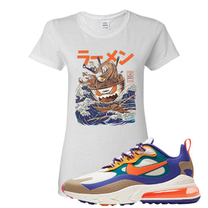 Air Max 270 React ACG Women's T-Shirt | White, Ramen Monster