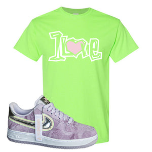 Air Force 1 P[her]spective T Shirt | Neon Green, 1 Love