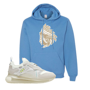 Air Max 720 OBJ Slip White Hoodie | California Blue, Indian Chief