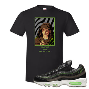 Air Max 95 Black / Electric Green T Shirt | God Told Me, Black