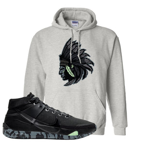 Nike KD 13 Black And Dark Grey Pullover Hoodie | Indian Chief, Ash