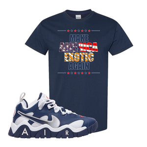 Air Barrage Low USA T Shirt | Navy, Make America Exotic Again
