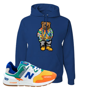 997S Multicolor Sneaker Royal Pullover Hoodie | Hoodie to match New Balance 997S Multicolor Shoes | Sweater Bear