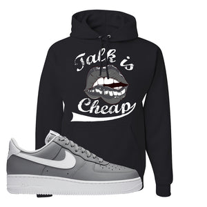 Air Force 1 Low Wolf Grey White Hoodie | Black, Talk is Cheap