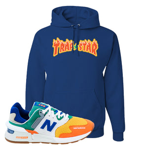 997S Multicolor Sneaker Royal Pullover Hoodies | Hoodies to match New Balance 997S Multicolor Shoes | Trap Star