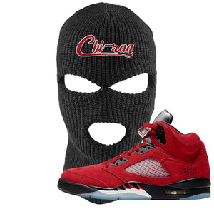 Air Jordan 5 Raging Bull Ski Mask | Chiraq, Black