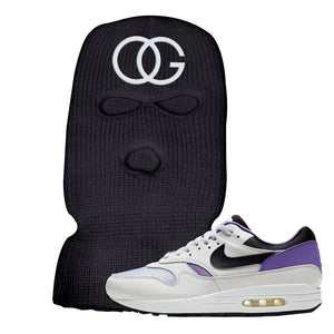 Air Max 1 DNA Series Sneaker Black Ski Mask | Winter Mask to match Nike Air Max 1 DNA Series Shoes | OG