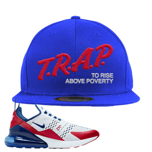 Air Max 270 USA Snapback Hat | Royal Blue, Trap To Rise Above Poverty