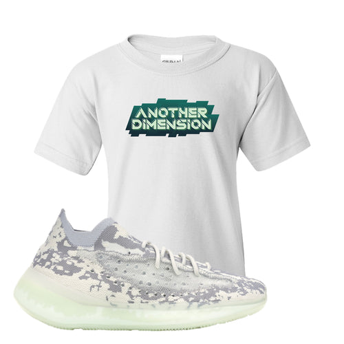 Yeezy Boost 380 Alien Another Dimension White Sneaker Matching Kid's T-Shirt