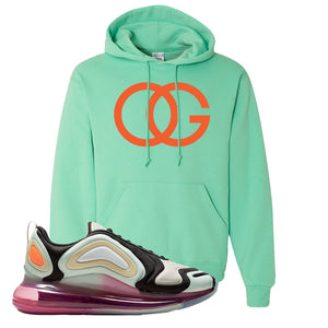 Air Max 720 WMNS Black Fossil Sneaker Cool Mint Pullover Hoodie | Hoodie to match Nike Air Max 720 WMNS Black Fossil Shoes | OG