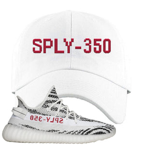 Yeezy Boost 350 V2 Zebra Sply-350 White Sneaker Hook Up Dad Hat