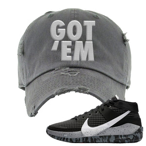 KD 13 Oreo Distressed Dad Hat | Got Em, Dark Gray