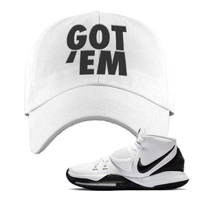 Kyrie 6 Oreo Dad Hat | White, Got Em