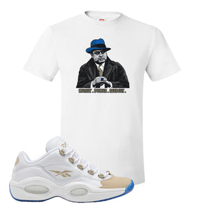 Reebok Question Low Oatmeal T Shirt | White, Capone Illustration