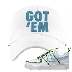 Air Force 1 '07 PRM 'Worldwide Pack' Dad Hat | White, Got Em