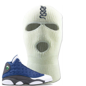 Jordan 13 Flint 2020 Sneaker White Ski Mask | Winter Mask to match Nike Air Jordan 13 Flint 2020 Shoes | Coiled Snake