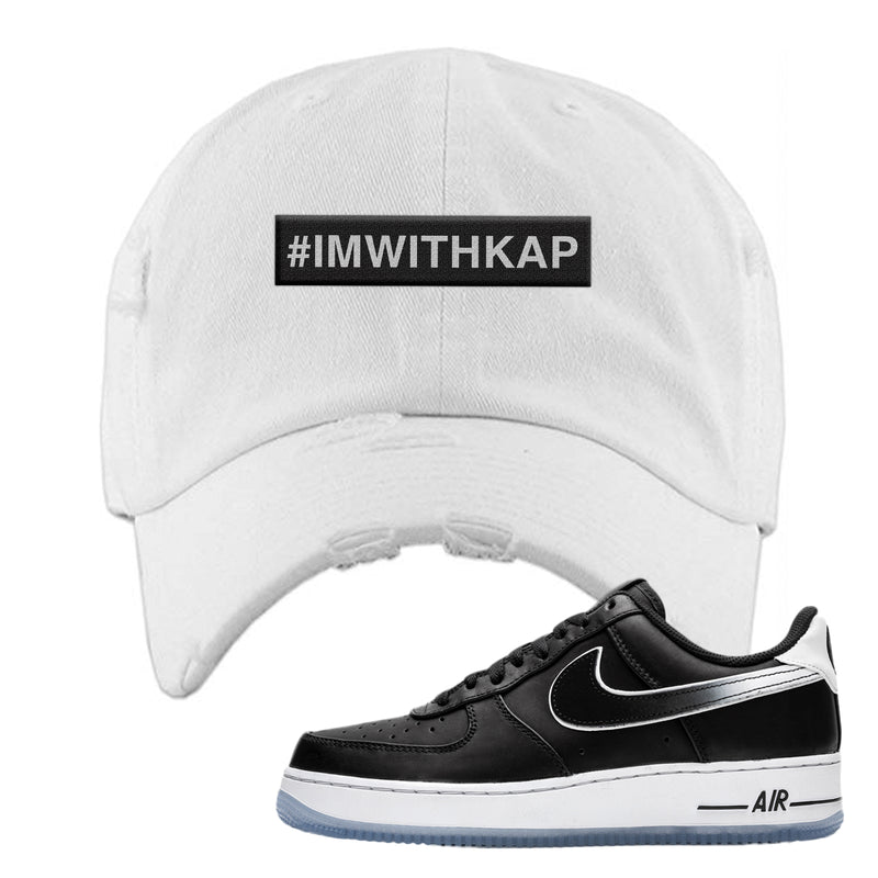 Colin Kaepernick X Air Force 1 Low Distressed Dad Hat | White, I'm With Kap