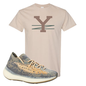 Yeezy Boost 380 Mist Sneaker Old Gold T Shirt | Tees to match Adidas Yeezy Boost 380 Mist Shoes | YZ