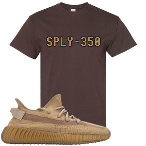 Yeezy Boost 350 V2 Earth Sneaker T-Shirt To Match | SPLY-350, Dark Chocolate