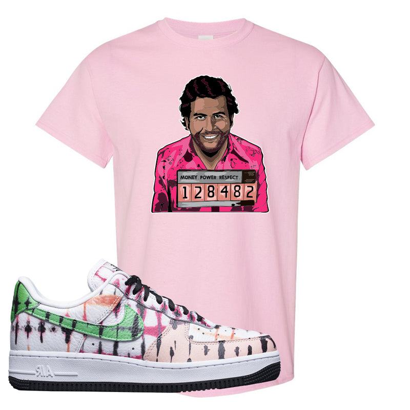 Air Force 1 Low Multi-Colored Tie-Dye T Shirt | Light Pink, Escobar Illustration