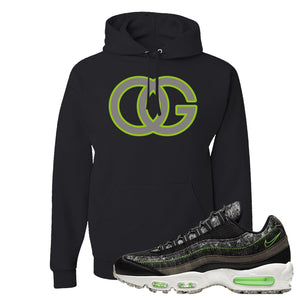 Air Max 95 Black / Electric Green Hoodie | OG, Black