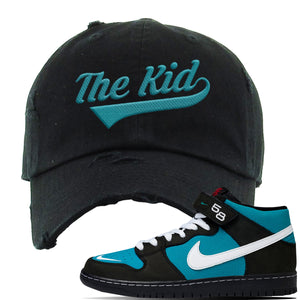 Air Max 90 Easter Distressed Dad Hat | Black, The Kid