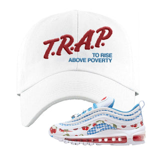 Air Max 97 GS SE Cherry Dad Hat | Trap To Rise Above Poverty, White