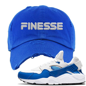 Huarache DNA Series Distressed Dad Hat | Royal, Finesse