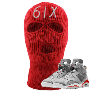 Jordan 6 Neutral Grey Ski Mask | Red, 6IX