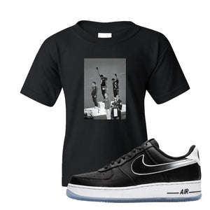 Colin Kaepernick X Air Force 1 Low Kaepernick Fist Black Sneaker Hook Up Kid's T-Shirt
