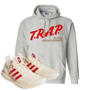 Adidas Ultra Boost 1.0 Indiana Pullover Hoodie | Trap To Rise Above Poverty, Ash