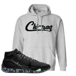 Nike KD 13 Black And Dark Grey Pullover Hoodie | Chiraq, Ash