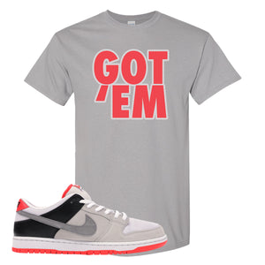 Nike SB Dunk Low Infrared Orange Label Got Em Gravel T-Shirt To Match Sneakers