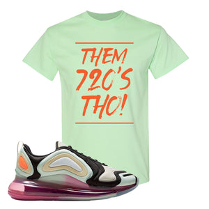 Air Max 720 WMNS Black Fossil Sneaker Mint Green T Shirt | Tees to match Nike Air Max 720 WMNS Black Fossil Shoes | Them 720S Tho