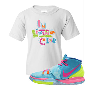 Kyrie 6 Pool Kids T-Shirt | In living Color, White