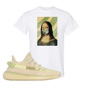 Yeezy Boost 350 V2 Flax T-Shirt | White, Mona Lisa Mask
