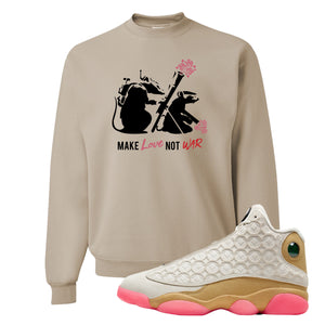 Jordan 13 Chinese New Year 2020 Army Rats Sandstone Crewneck Sweatshirt to match Jordan 13 Chinese New Year Sneaker