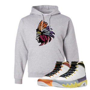Air Jordan 9 Change The World Hoodie | Indian Chief, Ash