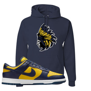 SB Dunk Low Michigan Hoodie | Indian Chief, Navy Blue