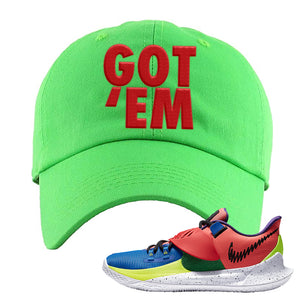 Kyrie Low 3 NY vs NY Dad Hat | Got Em, Neon Green