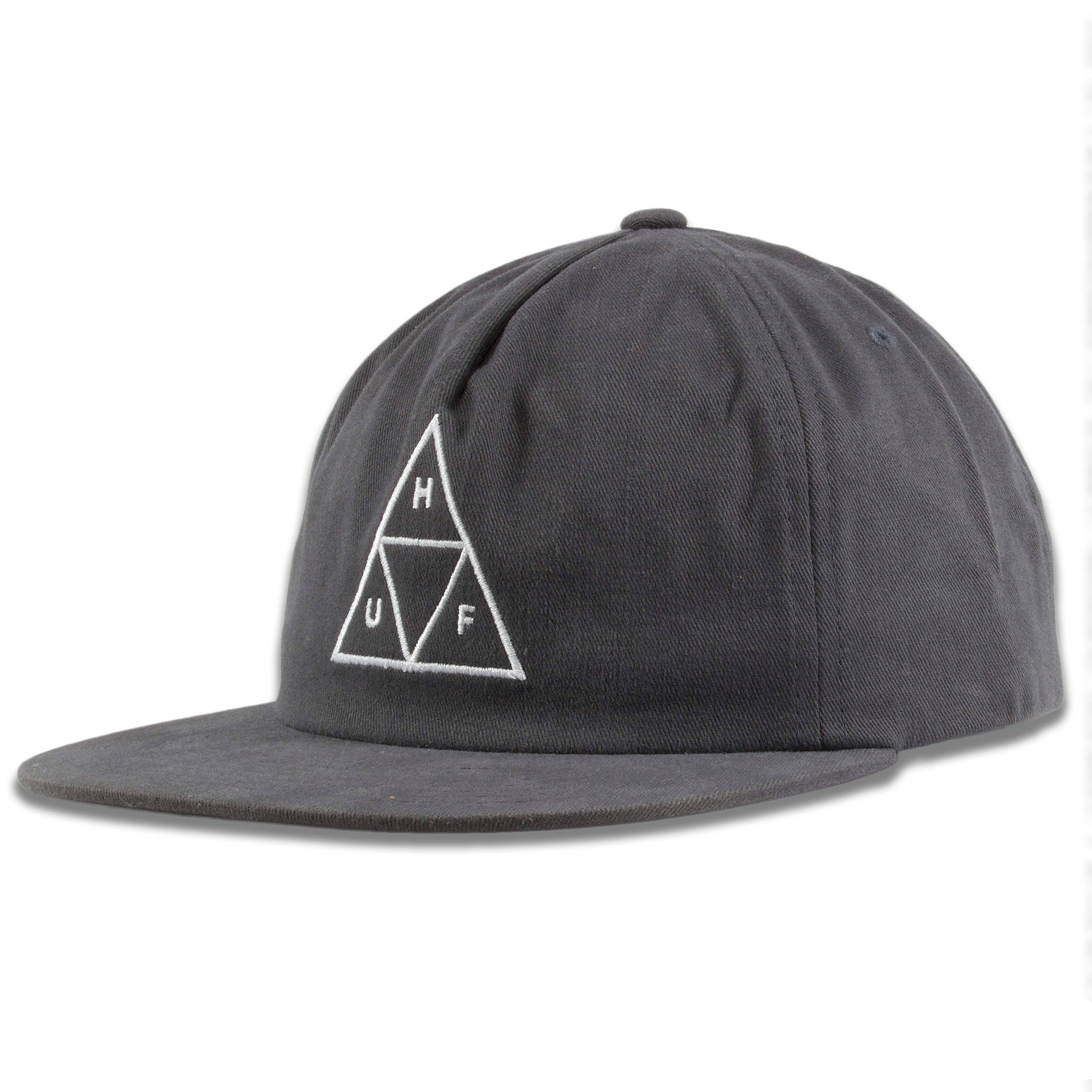 60d97714 Huf Graphite Triangle Logo Snapback Hat – Cap Swag