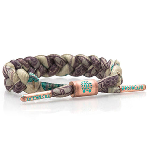 Rastaclat Benjamin Franklin 100 Dollar Bill Pattern Braided Shoelace Bracelet