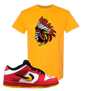 Nike Dunk Low Vietnam 25th Anniversary T-Shirt | Indian Chief, Gold