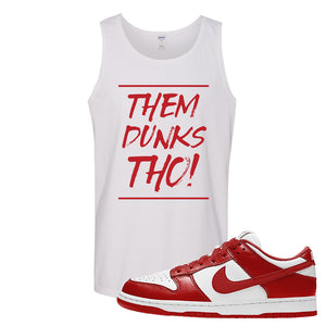 SB Dunk Low St. Johns Tank Top | Them Dunks Tho, White