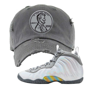 Lil Posite One Rainbow Pixel Distressed Dad Hat | Dark Gray, Penny