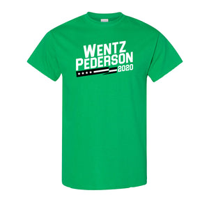 Wentz Pederson 2020 T-Shirt | Wentz X Pederson 2020 Kelly Green T-Shirt the front of this shirt has the wentz x pederson logo
