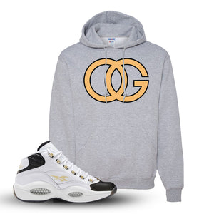 Reebok Question Mid Black Toe Hoodie | Athletic Heather, OG